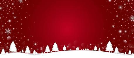 conception de fond de Noël de pin et de flocon de neige avec de la neige qui tombe dans l & # 39; illustration vectorielle hiver