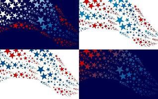 résumé, usa, fond, conception, de, étoile, fête indépendance, bannière, vecteur, illustration