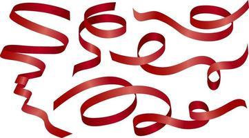 ruban rouge sur illustration vectorielle fond blanc