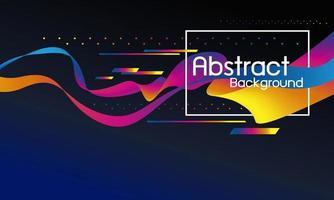 conception abstraite de flux coloré avec illustration vectorielle de copie espace vecteur