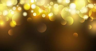 résumé, or, bokeh, lumières, fond, vecteur, illustration