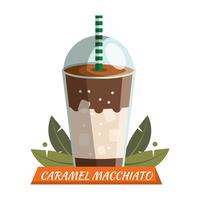 Macchiato caramel vecteur