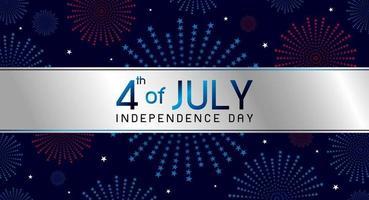 4 juillet illustration vectorielle de conception de bannière de fête de l'indépendance