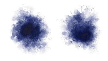 aquarelle bleue sur illustration vectorielle fond blanc