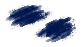 pinceau aquarelle bleu sur illustration vectorielle fond blanc