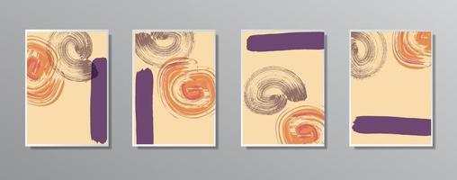 ensemble d'illustrations de couleur neutre vintage dessinés à la main minimaliste créatif, pour mur. pour carte-cadeau, affiche sur le modèle d'affiche de mur, page de destination, ui, ux, coverbook, baner,