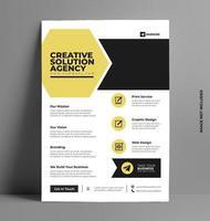 modèle de mise en page de flyer d'entreprise au format A4. vecteur