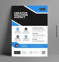 modèle de mise en page de flyer d'entreprise au format A4.