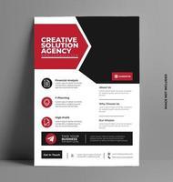 vecteur de mise en page de conception flyer brochure rouge.