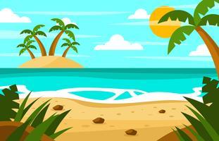 Fond de vacances à la plage vecteur