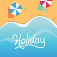 Illustration de vacances de vacances à la plage vecteur