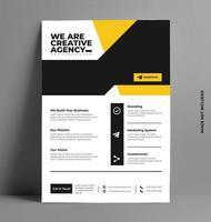 modèle de mise en page de dépliant d'entreprise au format A4. vecteur