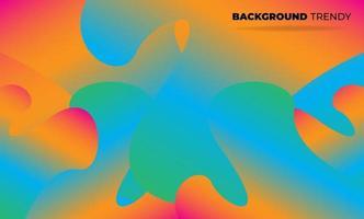 papier peint géométrique créatif. composition de formes de gradient de flux fluide à la mode. Fond de société d'approvisionnement visuel pour carte-cadeau, affiche sur le modèle d'affiche de mur, page de destination, ui, ux, coverbook, baner, vecteur