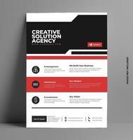 vecteur de modèle de mise en page de conception flyer rouge.