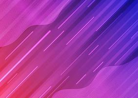 Ligne de vague dégradé rose bleu abstrait moderne et texture de fond vecteur