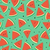 modèle sans couture de fruits pastèque vecteur