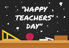 Illustration vectorielle de jour des enseignants heureux
