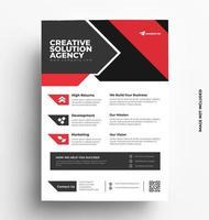 modèle de flyer d'entreprise. vecteur