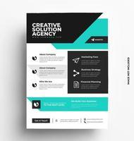 modèle de mise en page de conception de flyer d'entreprise au format a4 vecteur