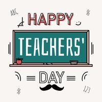 Vecteur de jour de l'enseignant heureux