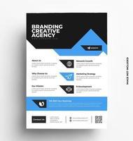 modèle de flyer d'entreprise bleu. vecteur