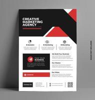 imprimer un modèle de flyer d'entreprise. vecteur