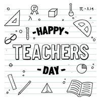 Vecteur d'ordinateur portable jour heureux enseignants