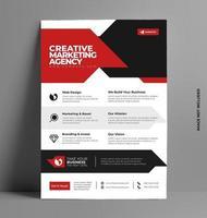 conception de flyer brochure entreprise. vecteur