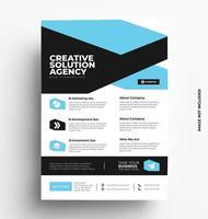 mise en page de conception de flyer brochure vectorielle. vecteur