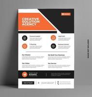 modèle de flyer brochure d'entreprise. vecteur