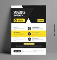 conception de flyer jaune d'entreprise.