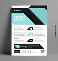 conception de flyer brochure entreprise a4. vecteur