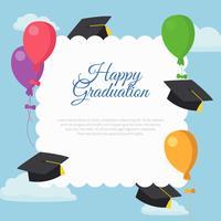 Modèle de carte de Graduation heureux