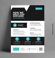 modèle de couverture de flyer entreprise a4 vecteur