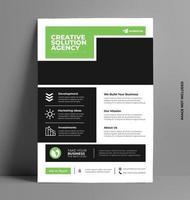 modèle de flyer entreprise verte entreprise.