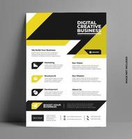 conception de flyers commerciaux. vecteur