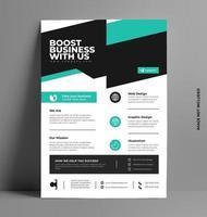 modèle de flyer promotionnel de services commerciaux. vecteur