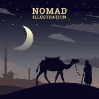 Illustration nomade vecteur