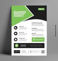 modèle de flyer vert d'entreprise. vecteur
