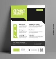 conception de modèle de flyer d'entreprise. vecteur