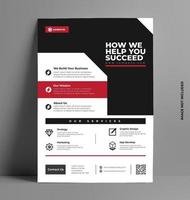 modèle de conception de flyer d'entreprise créative. vecteur