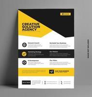 modèle de flyer jaune d'entreprise au format a4. vecteur