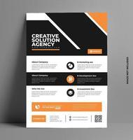 conception de modèle de flyer brochure d'entreprise. vecteur