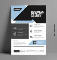 modèle de flyer brochure créative. vecteur