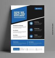 conception de modèle de flyer entreprise. vecteur