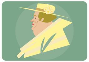 Femme, vecteur, chapeau, derby kentucky