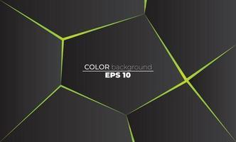 fond de formes polygonales low poly triangles mosaïque néon noir et vert vecteur