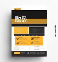 conception de vecteur flyer brochure entreprise