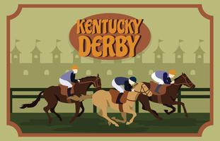 Illustration de carte postale du Kentucky Derby vecteur