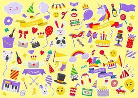 logo vectoriel étiquette de fête pour bannière